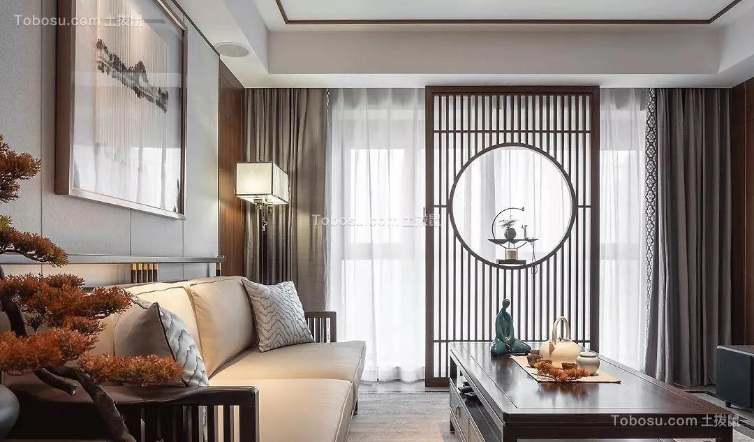 2021中式客厅装修设计 2021中式隐形门装修效果图片