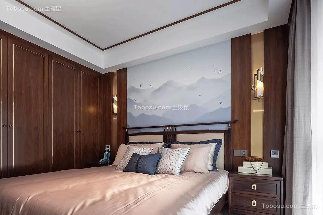 2020中式卧室装修设计图片 2020中式照片墙装修图
