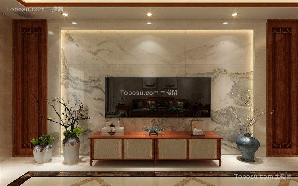 2020新中式客厅装修设计 2020新中式电视柜装修效果图片