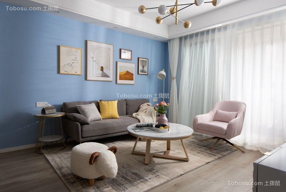 龙湖两江新宸三房简约北欧风格装修案例
