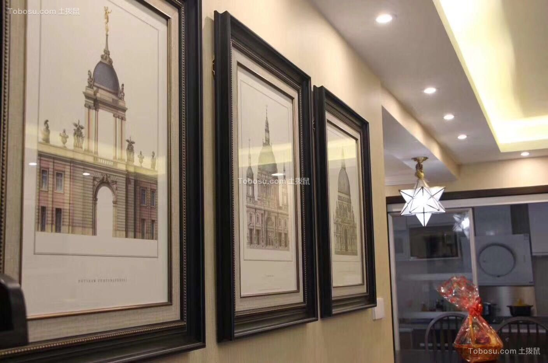 2020混搭餐厅效果图 2020混搭照片墙效果图
