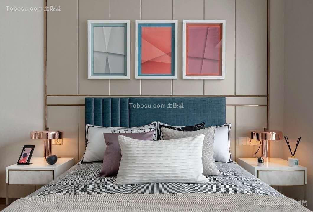太原市85平旧房改造现代摩登装饰效果图
