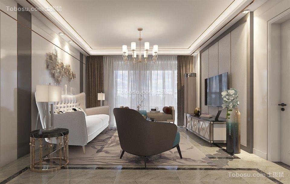 2020现代客厅装修设计 2020现代电视背景墙图片