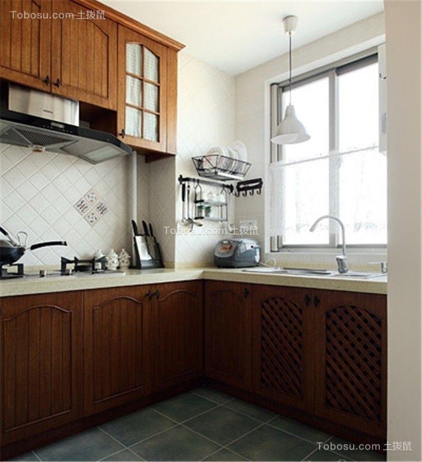 2020田园厨房装修图 2020田园橱柜装修效果图片