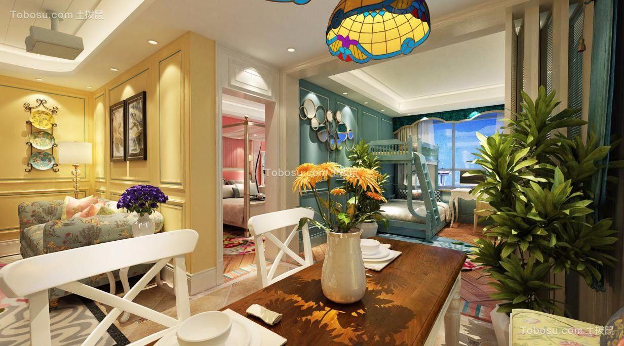 2020田园餐厅效果图 2020田园吧台装饰设计