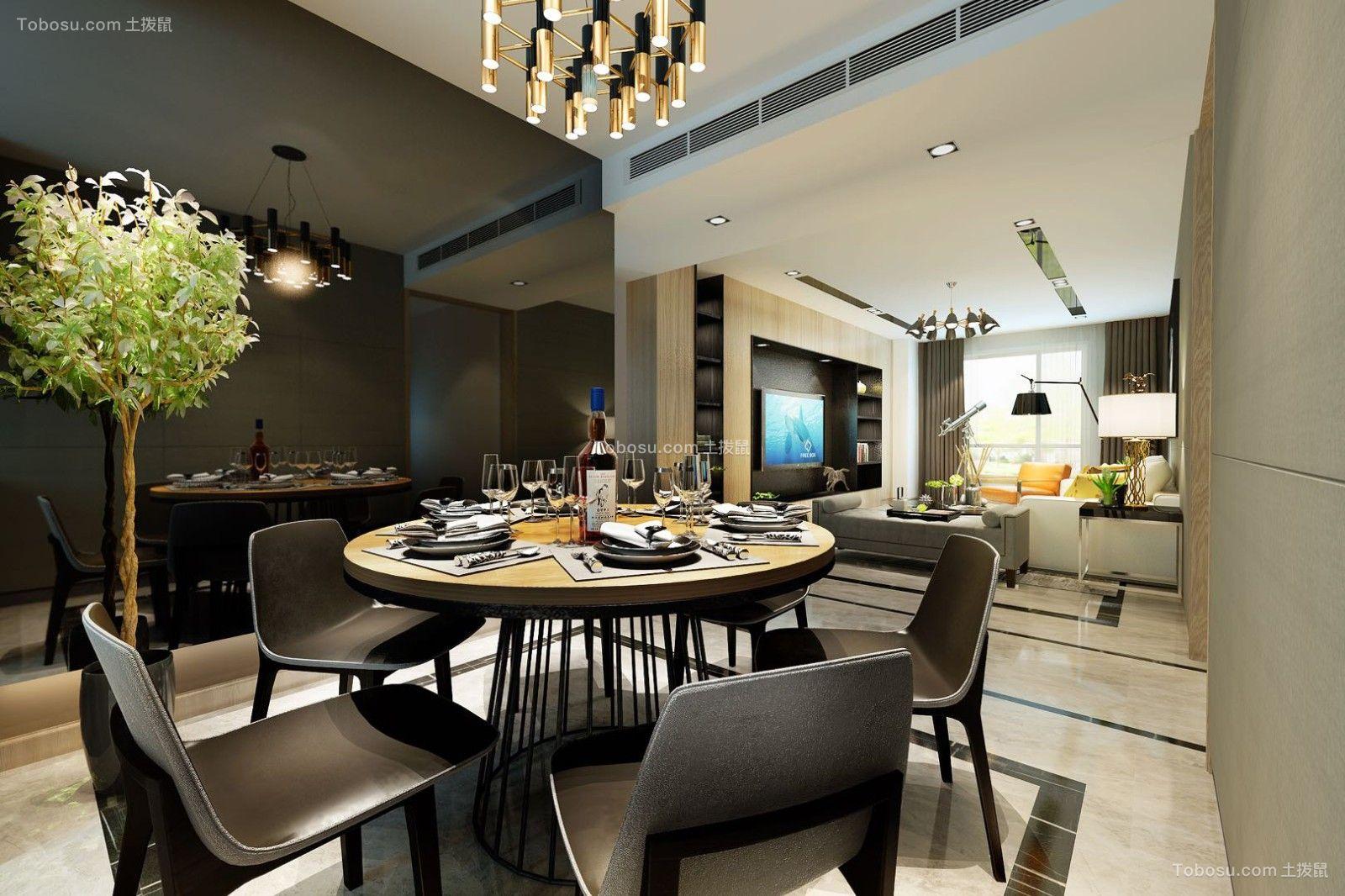 2020现代餐厅效果图 2020现代背景墙装修设计