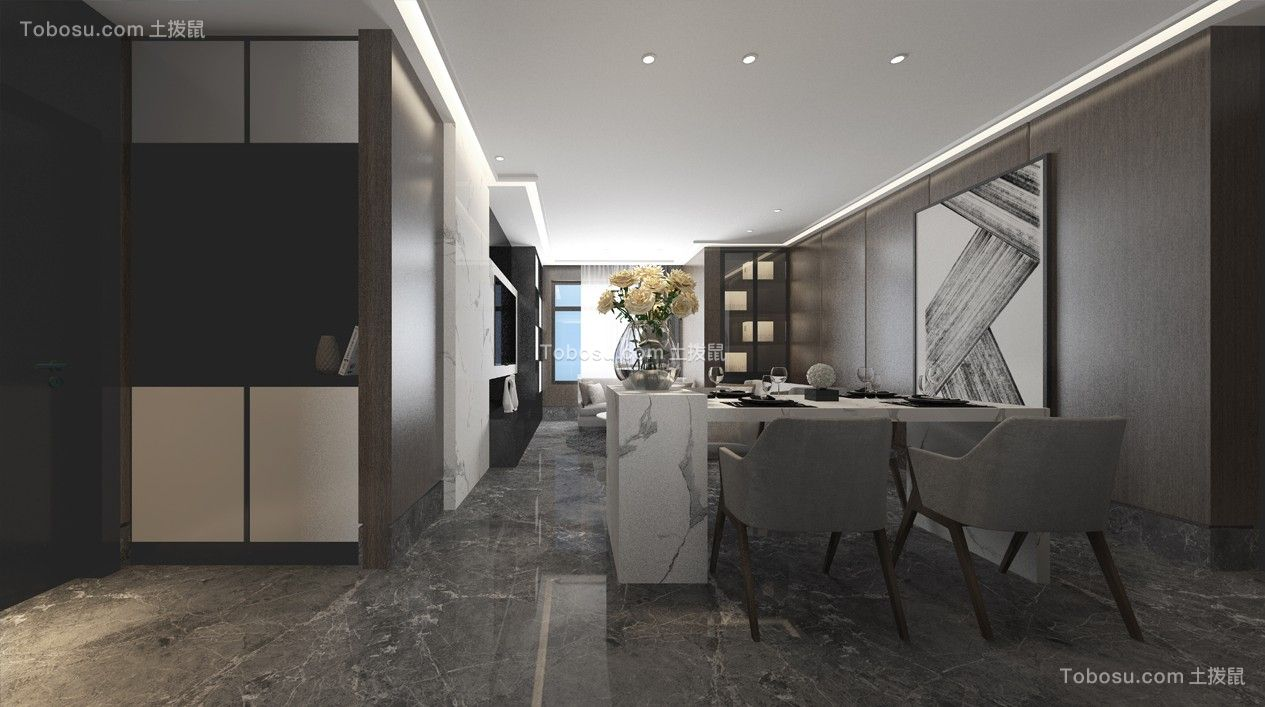 2020后现代客厅装修设计 2020后现代门厅装修图片