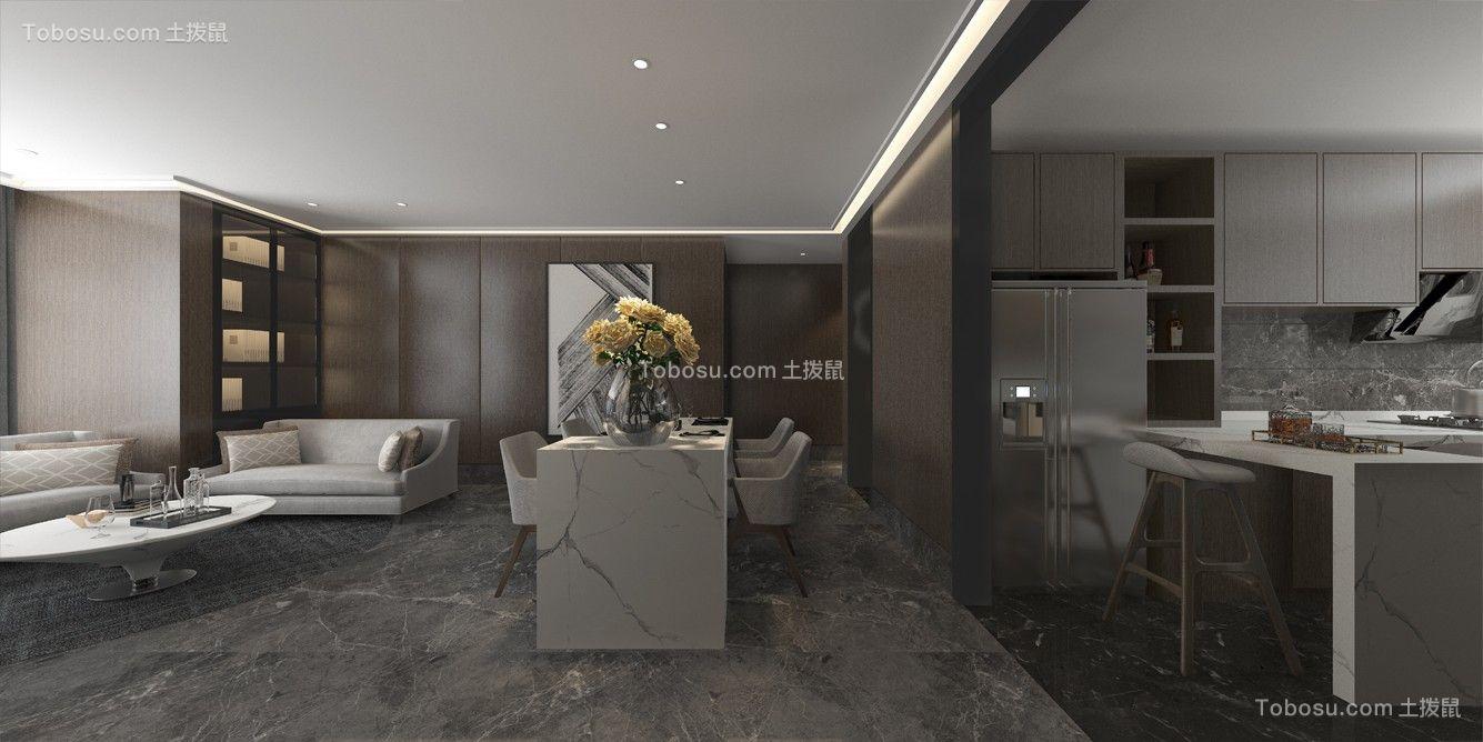 2020后现代客厅装修设计 2020后现代厨房岛台效果图
