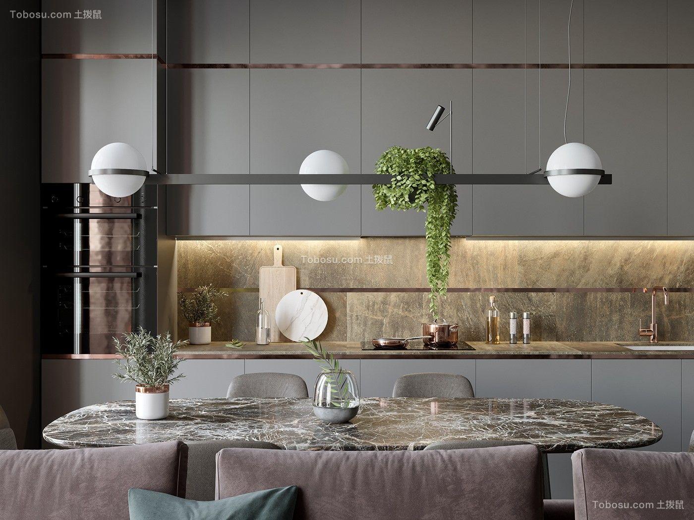2020现代简约厨房装修图 2020现代简约橱柜装修设计
