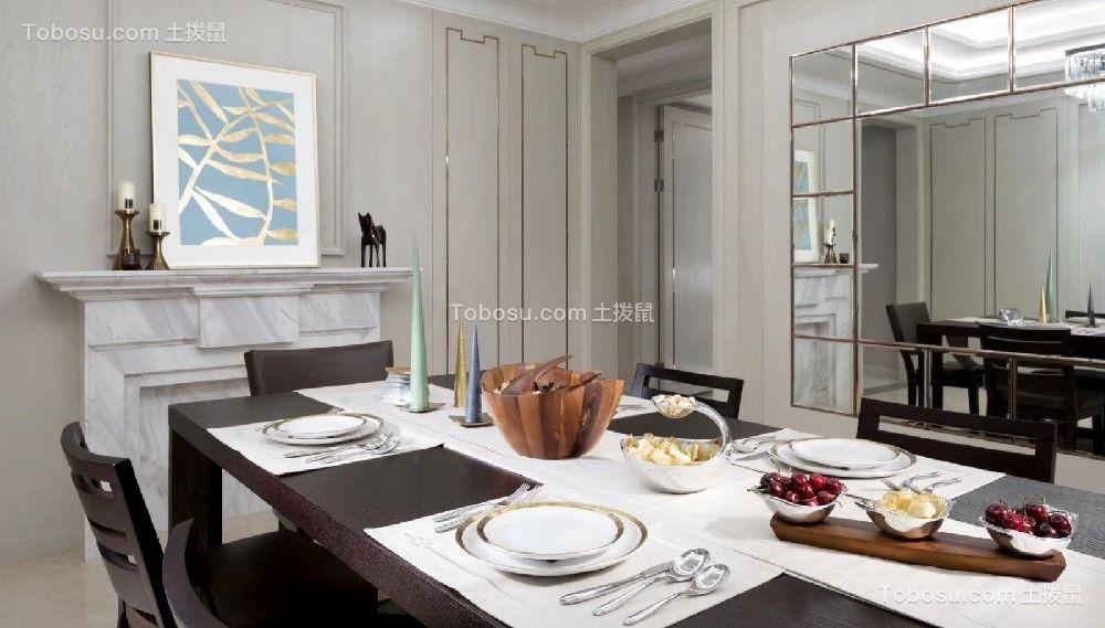 2020美式餐厅效果图 2020美式餐桌装修图片