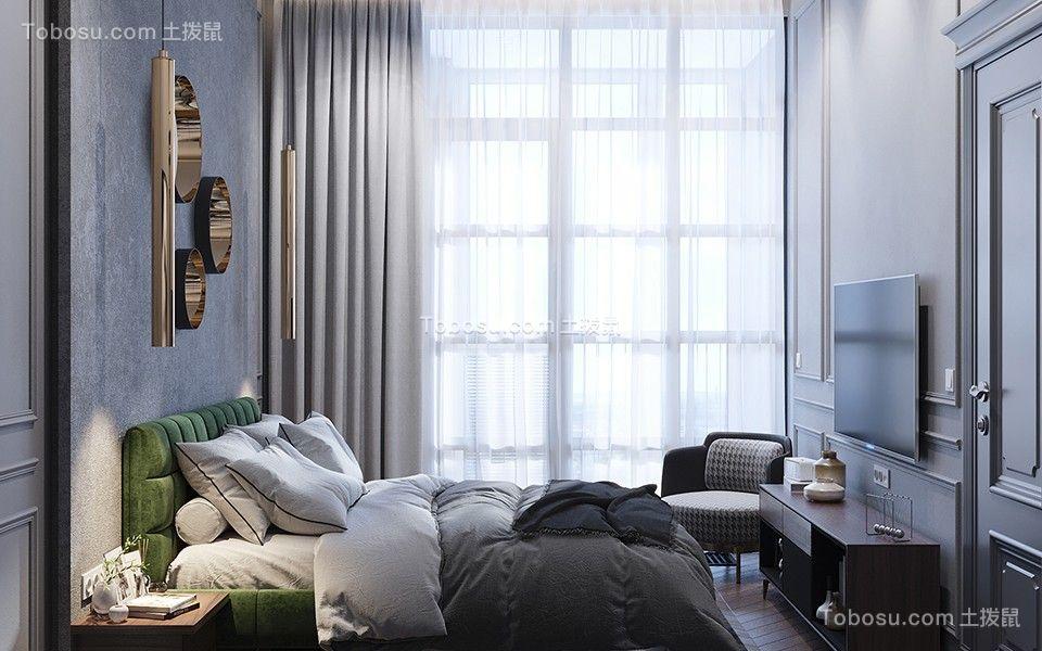 2020欧式卧室装修设计图片 2020欧式窗帘装修设计图片