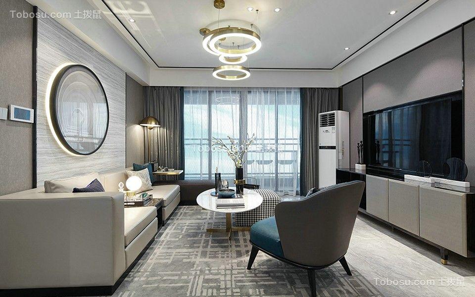 2020现代客厅装修设计 2020现代落地窗装修图片