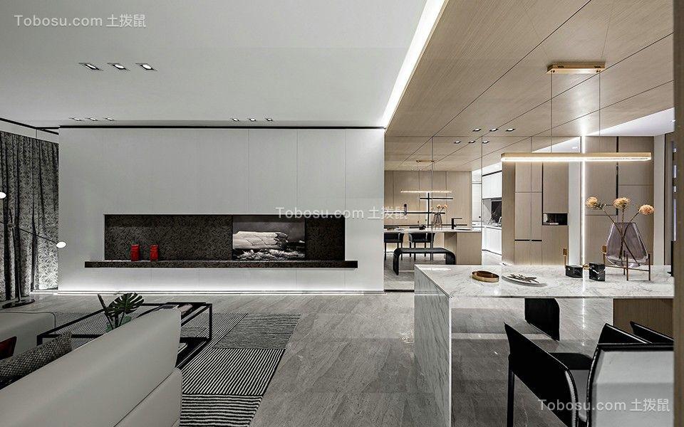 2020现代客厅装修设计 2020现代电视背景墙装修设计图片