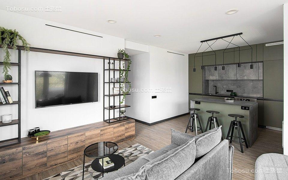 2020北欧客厅装修设计 2020北欧电视背景墙装修设计图片