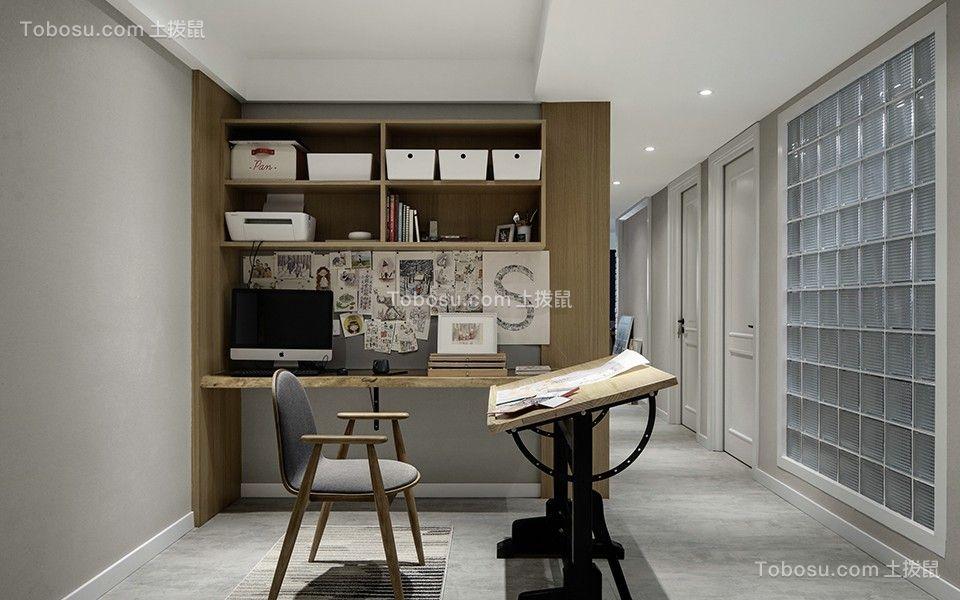 2020北欧书房装修设计 2020北欧书桌图片