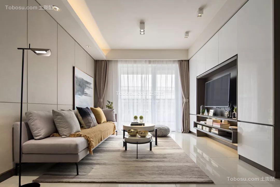 87㎡現代風兩居室裝修效果圖
