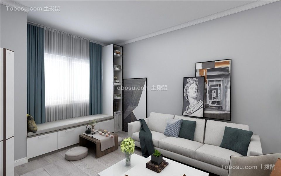 2020现代简约客厅装修设计 2020现代简约照片墙装修效果图大全