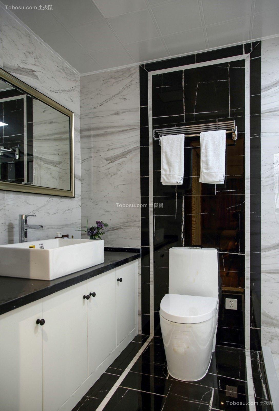 2020中式卫生间装修图片 2020中式地板砖设计图片