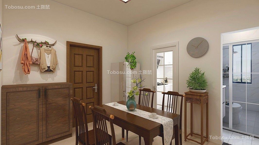 100平米中式风格二居室装修效果图