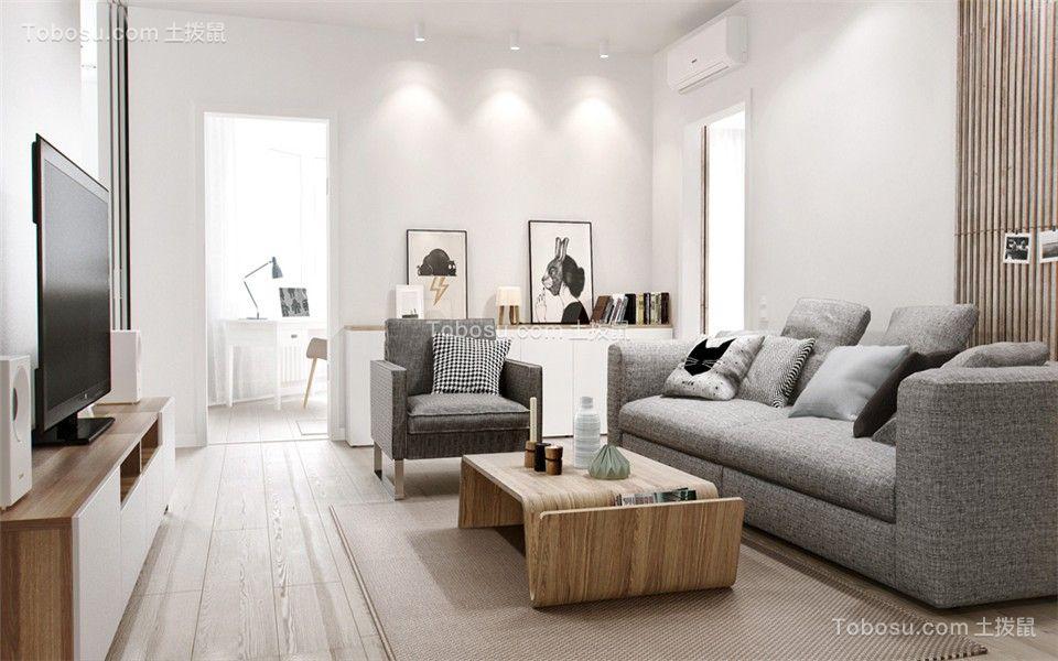 望龙东郡107平北欧风格三居室装修效果图