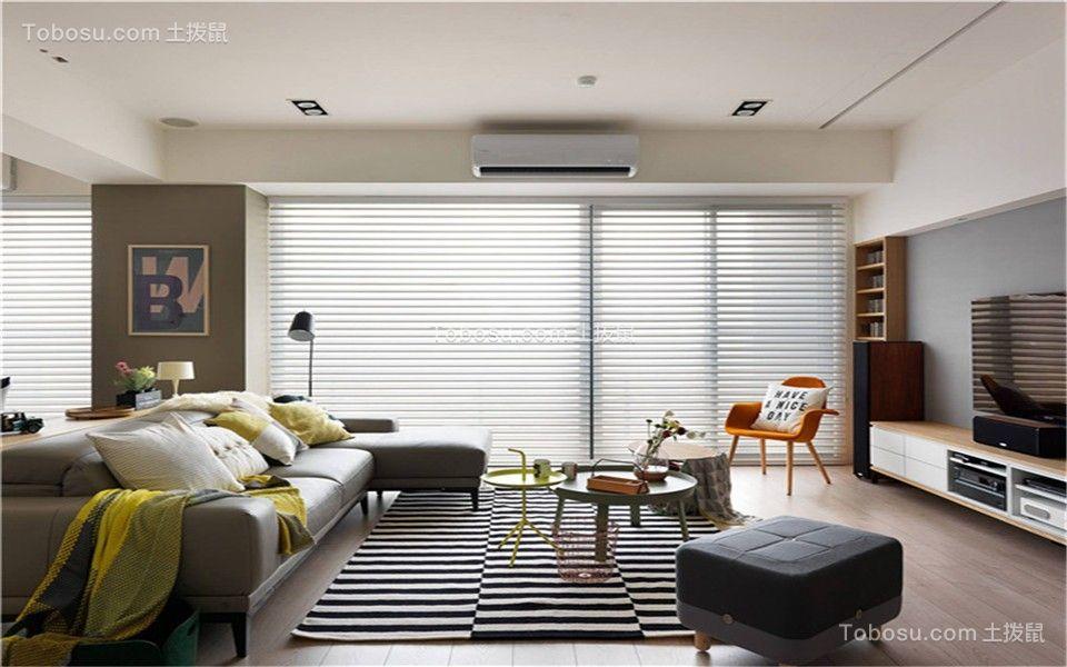 135平北歐風格三居室裝修效果圖