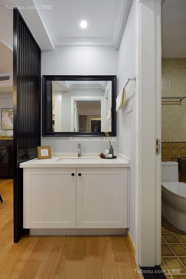 2021美式卫生间装修图片 2021美式洗漱台装饰设计
