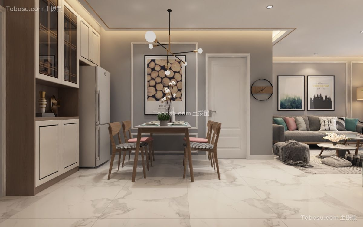 2021现代简约餐厅效果图 2021现代简约背景墙装修设计