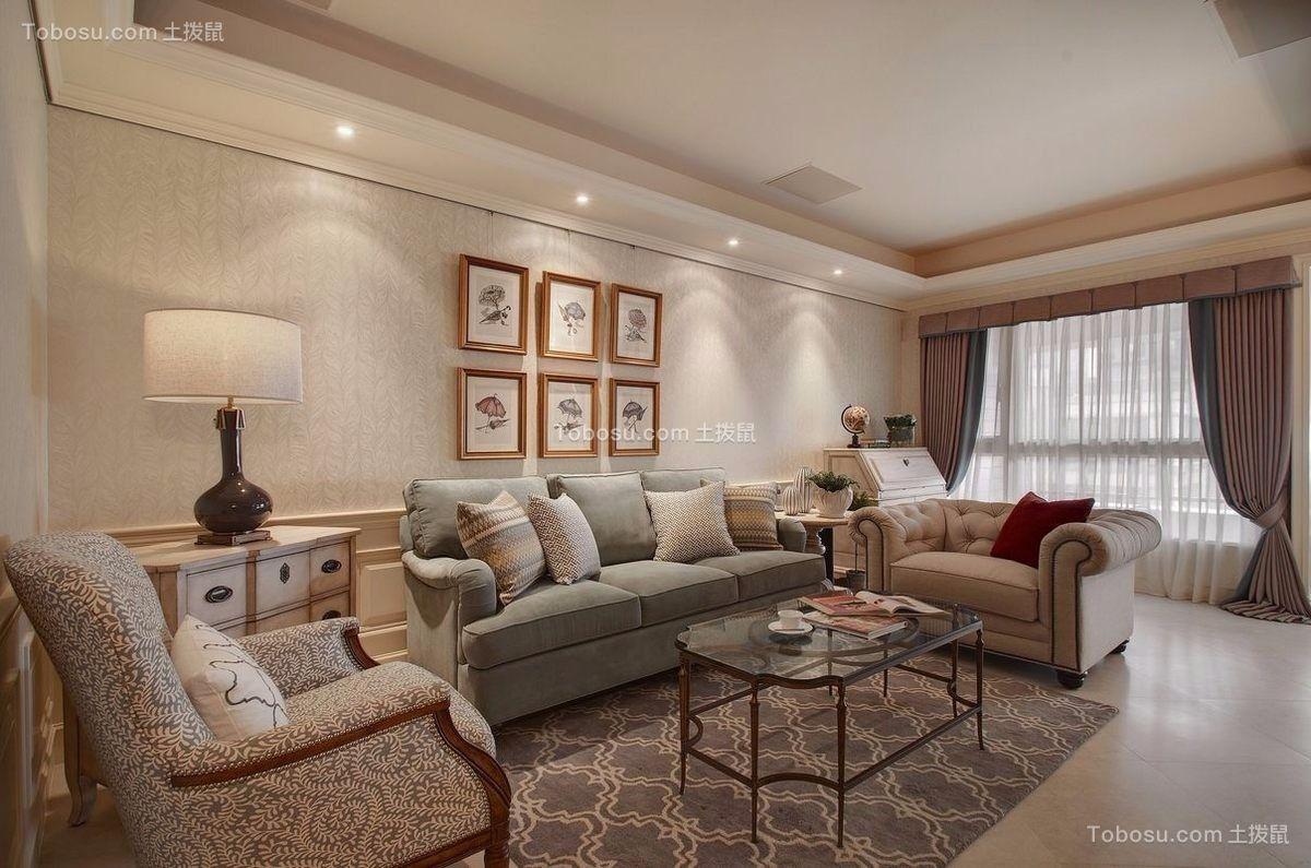 2021美式客厅装修设计 2021美式照片墙装修效果图大全