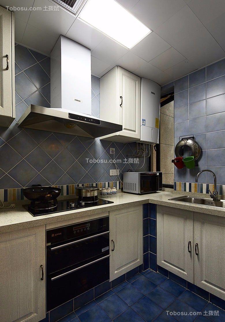 2021地中海厨房装修图 2021地中海橱柜装修效果图片