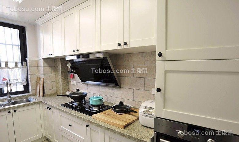 2021田园厨房装修图 2021田园橱柜装修效果图片