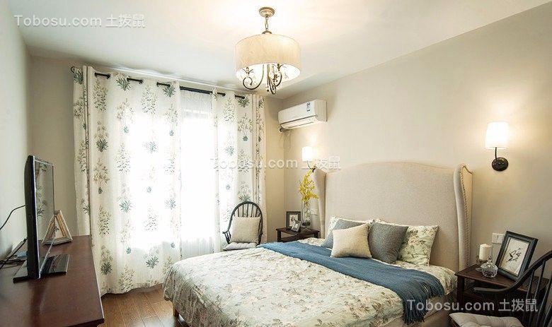 2021田园卧室装修设计图片 2021田园窗帘装修设计图片