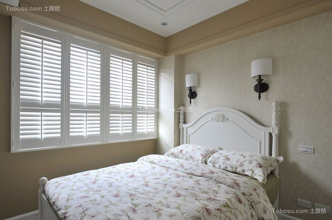 2021田园卧室装修设计图片 2021田园吊顶效果图