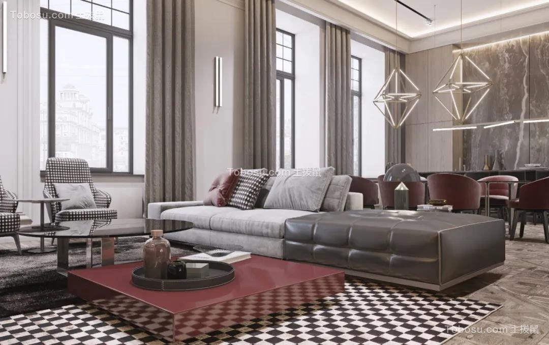 太原市阳光汾河湾210平新中式装饰效果图