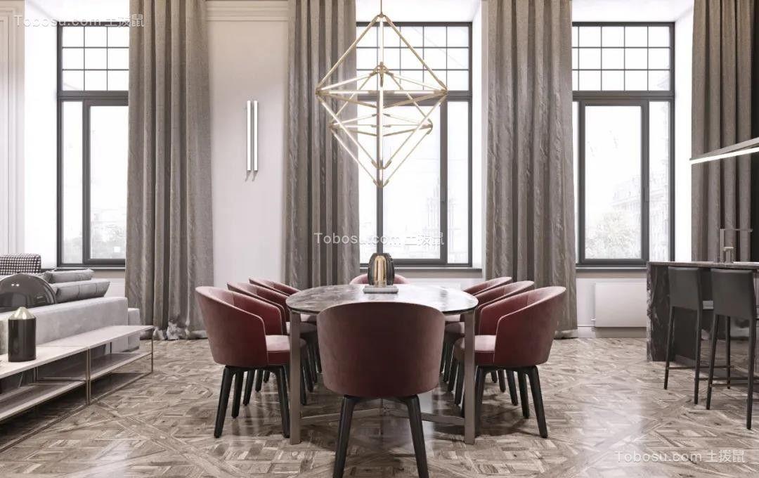 2021新中式餐厅效果图 2021新中式落地窗图片