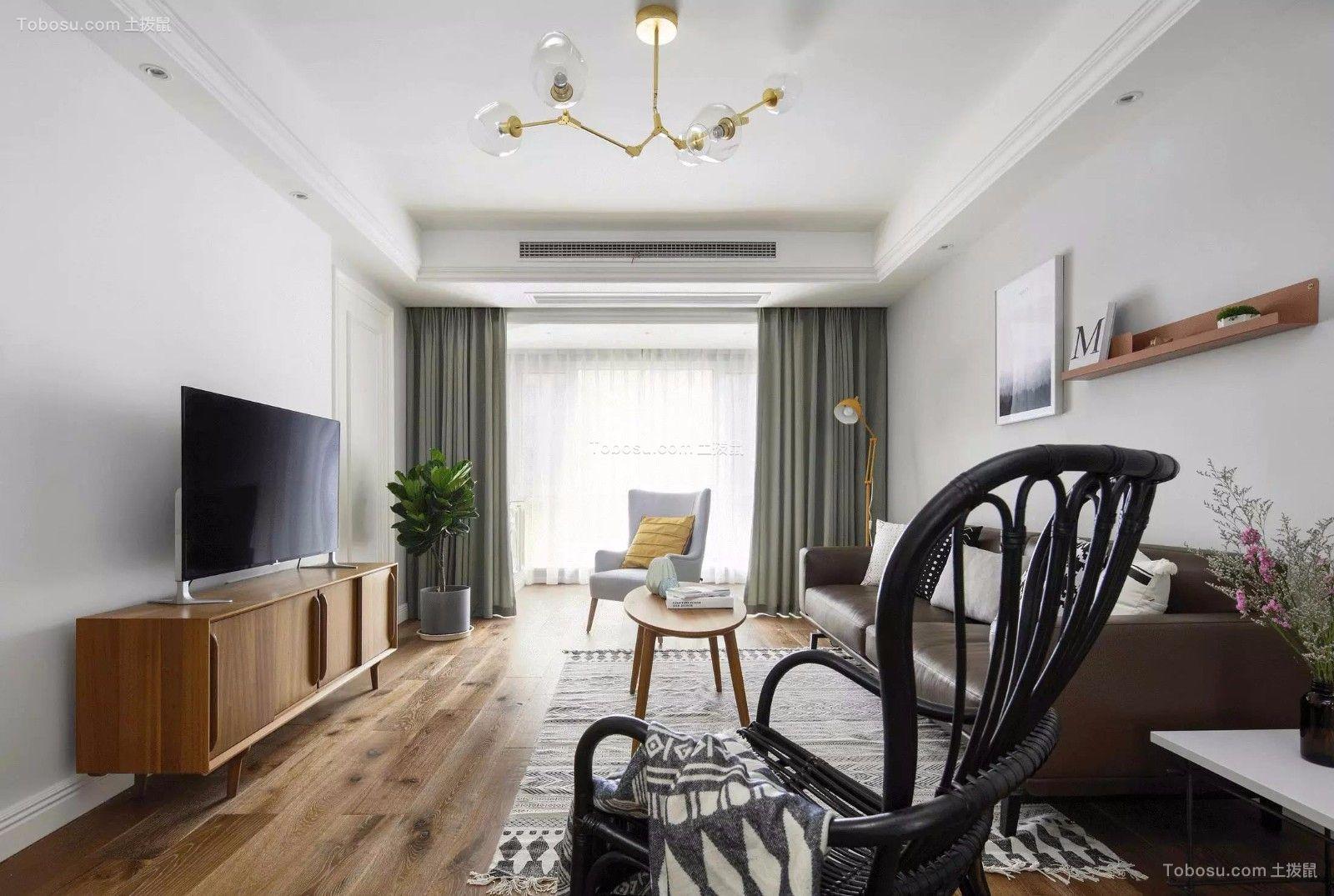 2021北欧客厅装修设计 2021北欧窗帘装修效果图片
