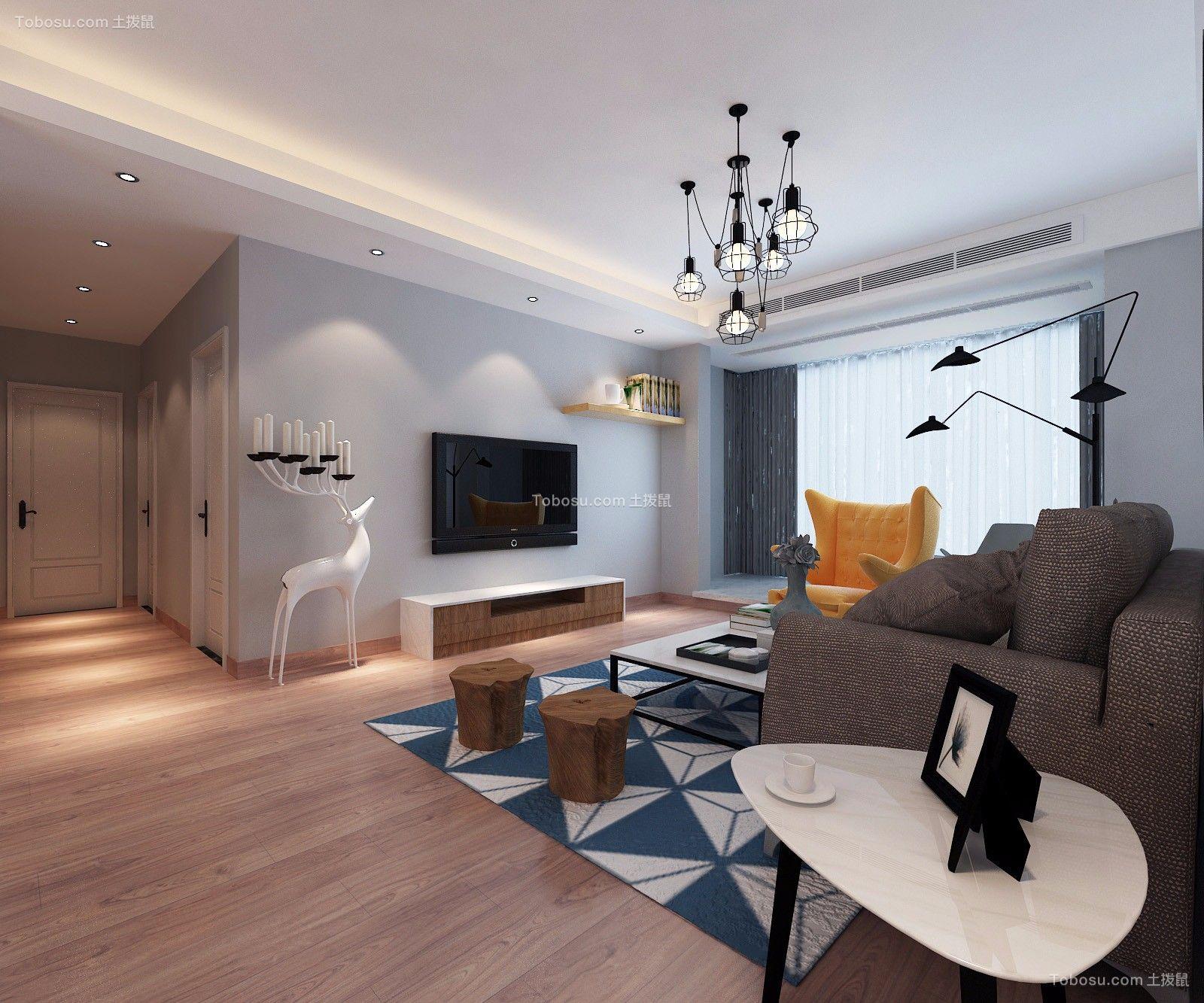 2021北欧客厅装修设计 2021北欧吊顶设计图片