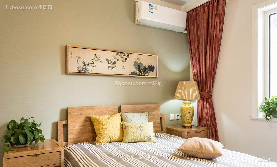 2021中式卧室装修设计图片 2021中式床头柜装修设计图片