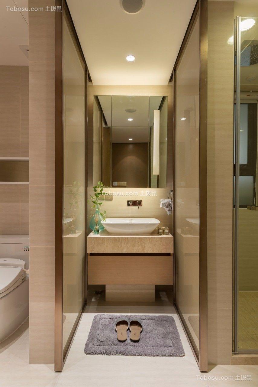 2021现代简约卫生间装修图片 2021现代简约洗漱台装饰设计