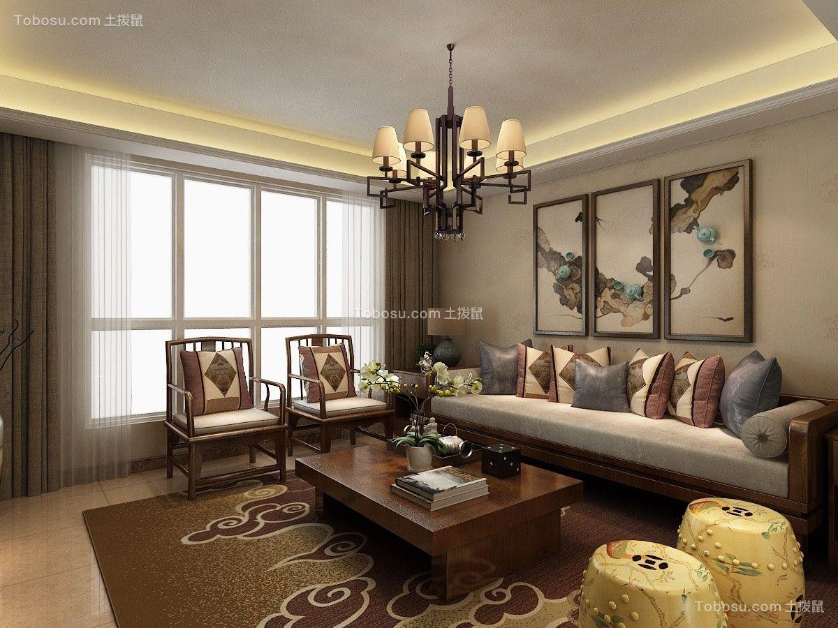 2021中式客厅装修设计 2021中式背景墙装修设计