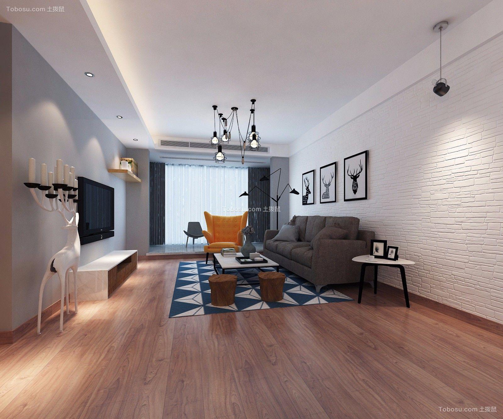 2021北欧客厅装修设计 2021北欧地板效果图