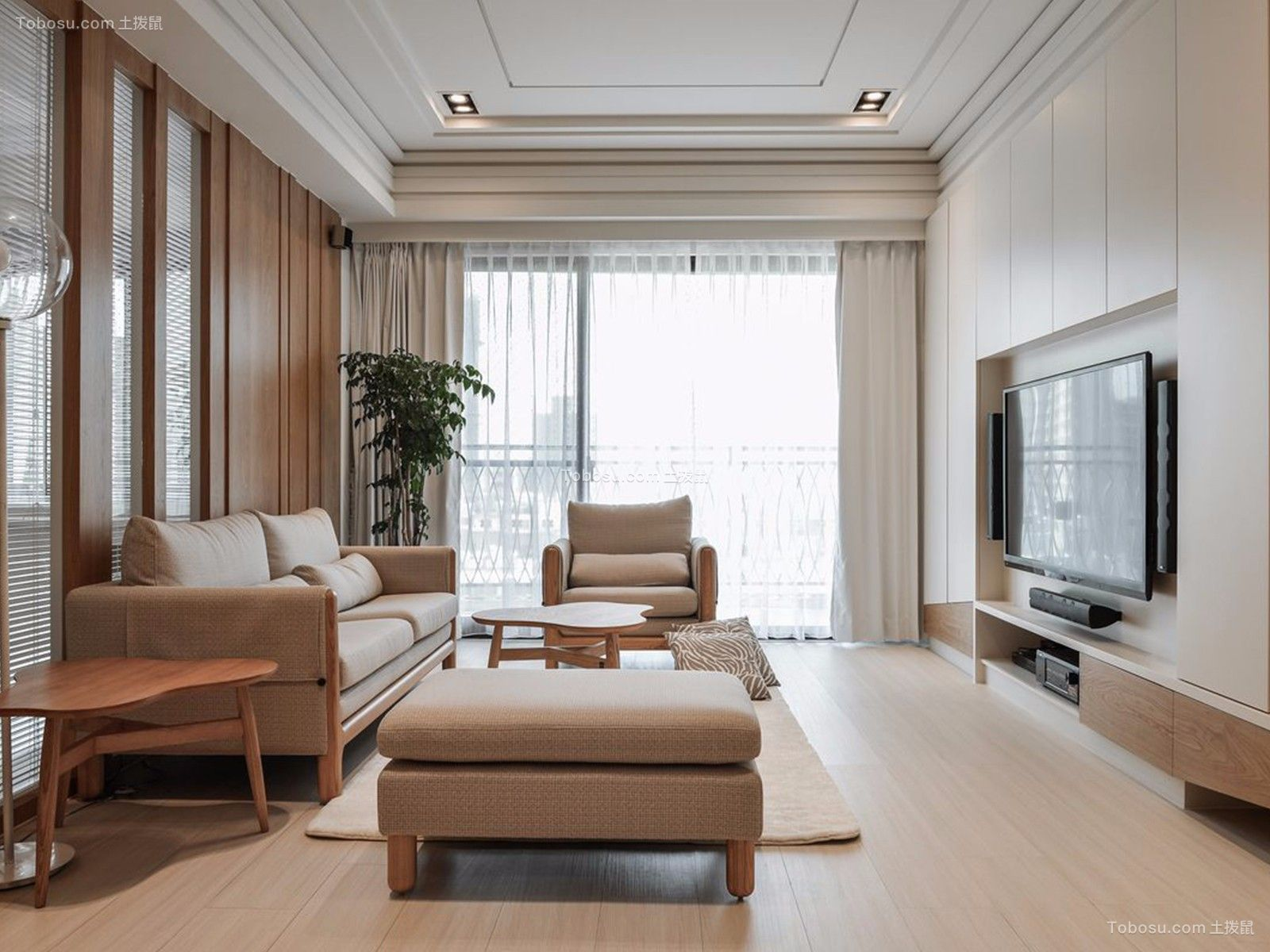 2021日式客厅装修设计 2021日式吊顶设计图片