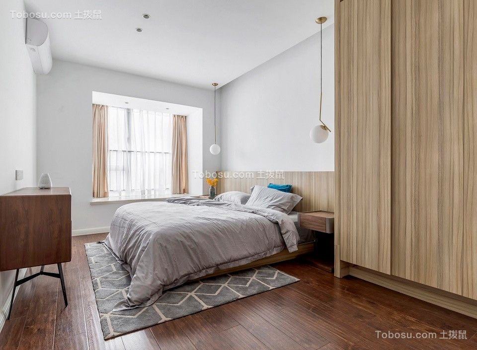 2021现代简约卧室装修设计图片 2021现代简约地板装修图片