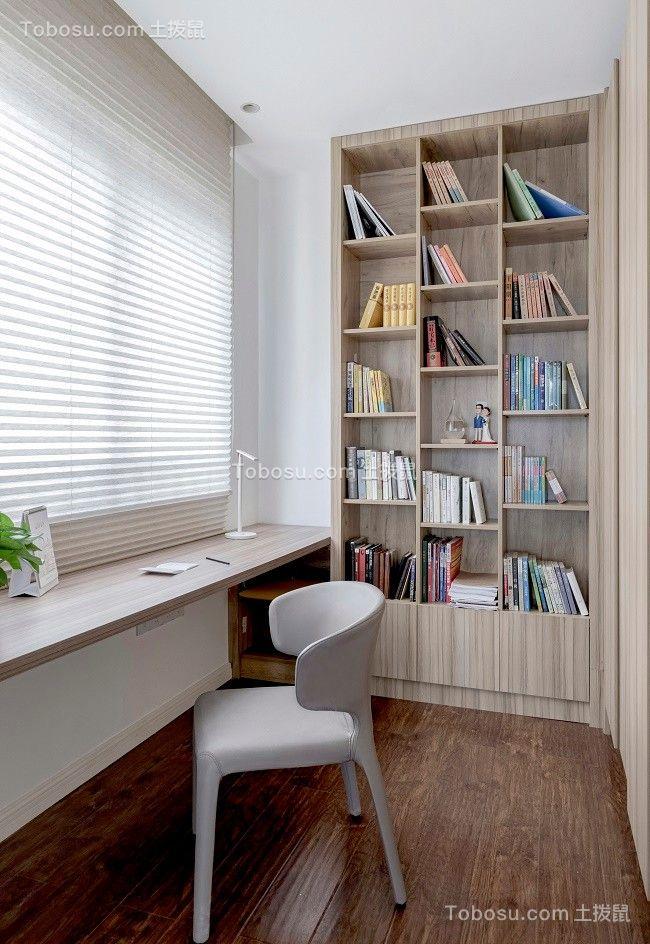 2021现代简约书房装修设计 2021现代简约书架装修图