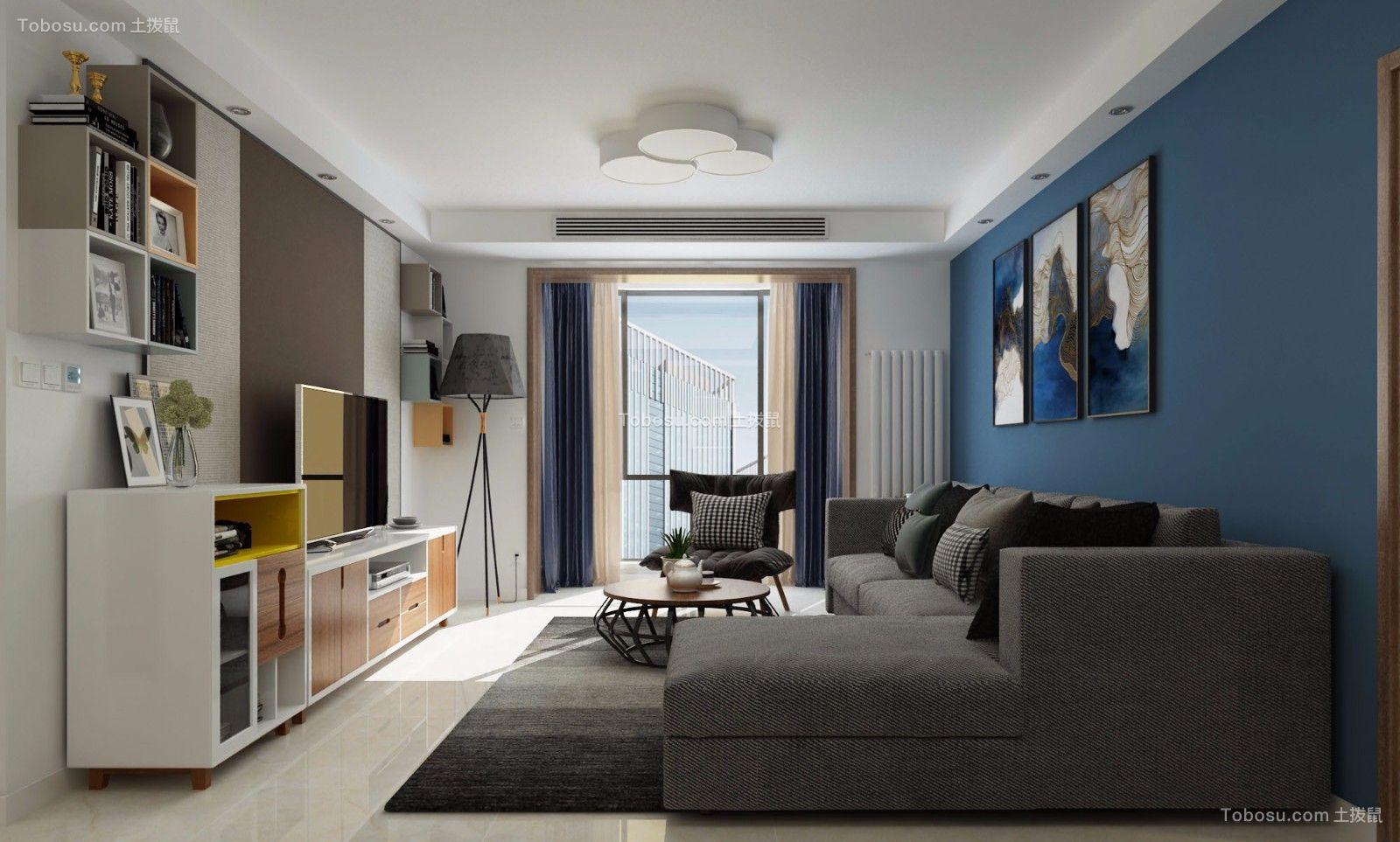 2021现代简约客厅装修设计 2021现代简约照片墙装修效果图大全