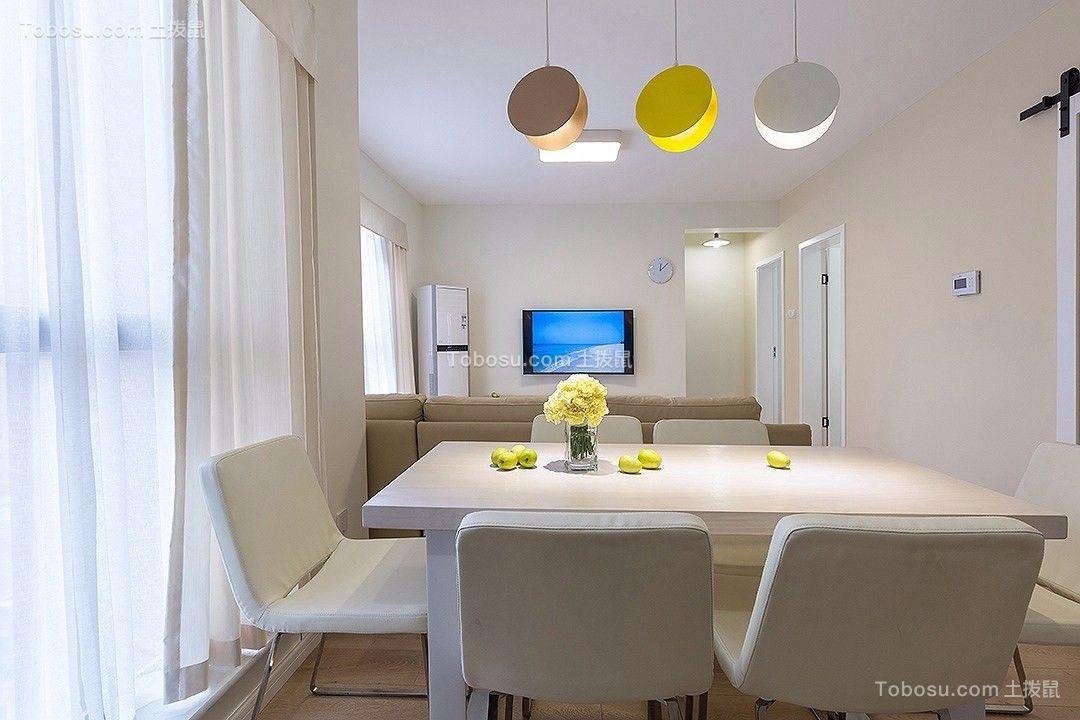 现代简约120平三居室装修效果图