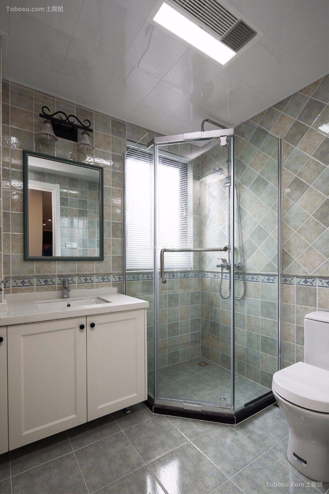 2020美式卫生间装修图片 2020美式地砖装修效果图大全