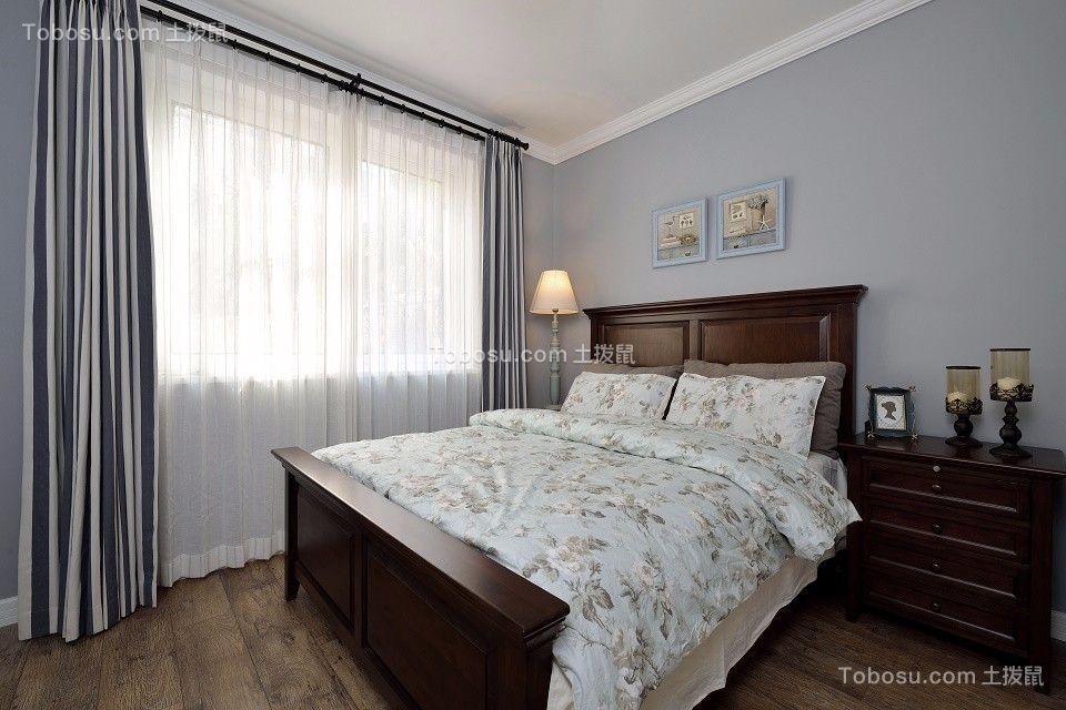 2020美式卧室装修设计图片 2020美式窗帘装修设计图片