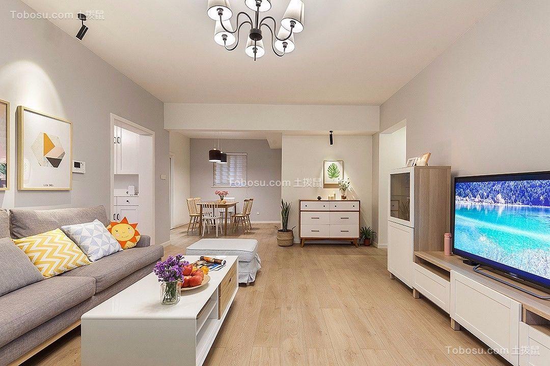 北欧120平三居室装修效果图