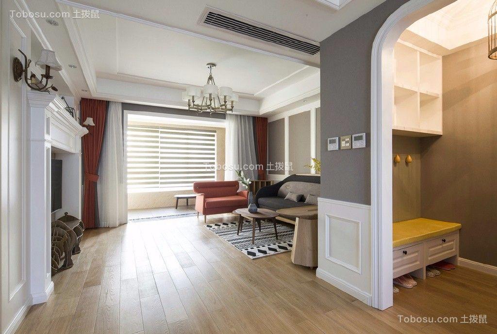 美式三居室120平装修效果图