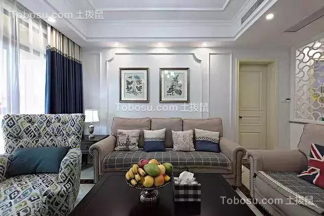 129平三美式三居室,主卧与次卧阳台很惬意,看起来就很高大上
